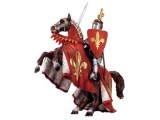 Knights: Prince on Reared Horse (Red)