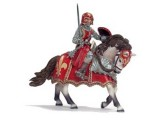 Knights: Knight on Horse with Sword - Red (Not on Card)