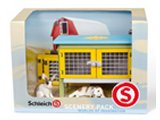 Schleich Scenery Pack: Rabbits & Hutch