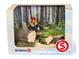 Schleich Box Set: Forestry Chainsaw Scene Pack