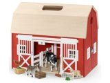 Schleich Building: Portable Barn with Animals & Accessories