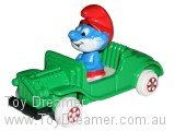 ERTL Papa Smurf in Jeep