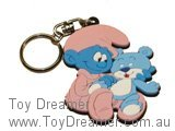 Baby and Teddy Smurf Keyring