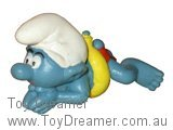Swimmer Smurf - Yellow Ring / Mouth Showing