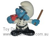 Policeman Smurf - White with Brown Stick
