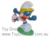 Football Smurfette on Stand