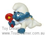 Baby Smurf with Rattle - White