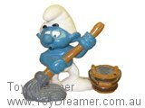Smurf with Mop and Pail
