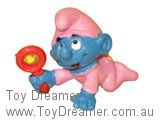 Baby Smurf with Rattle - Pink