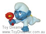 Baby Smurf with Rattle - Blue