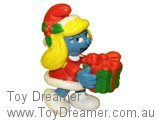 Christmas Smurfette with Gift