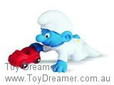 Baby Smurf with Car