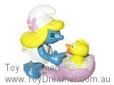 Easter Smurfette with Chick