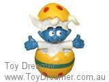 Baby Smurf in Yellow Easter Egg