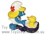 Smurfette with Easter Chick (Dark Egg)