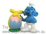 Smurf with Easter Egg (Yellow Bow)