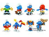 2004 Football Smurfs: Full Set of 8