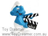 Smurf Movie 2: Smurf with Clapperboard 'The Smurfs 2' on board