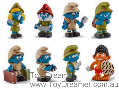2016 Jungle Smurfs: Full Set of 8