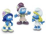 The Lost Village Smurfettes x 3