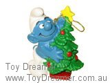 Smurf with Christmas Tree