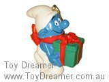 Smurf with Christmas Present