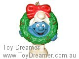 Smurf with Christmas Wreath - Genuine