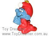 Christmas Praying Smurf - Genuine