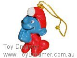 Christmas Smurf Praying - Fake