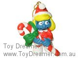 Christmas Smurfette with Candy Cane