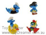 Smurfs Bath Toys (Duckie, Papa, Pirate, Ring)