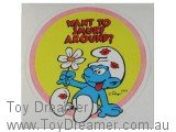 Smurf Sticker - Want to Smurf Around?