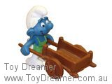 Gardener with Cart Super Smurf (Boxed)