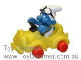 Smurf in Yellow Car