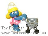 Smurfette with Shopping Trolley