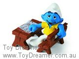 Slouching Smurf at School Desk (Boxed)