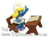 Smurfette at Desk Super Smurf (Boxed)